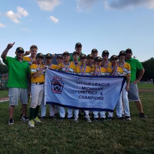 Congrats to the 12u District 6 Champions!